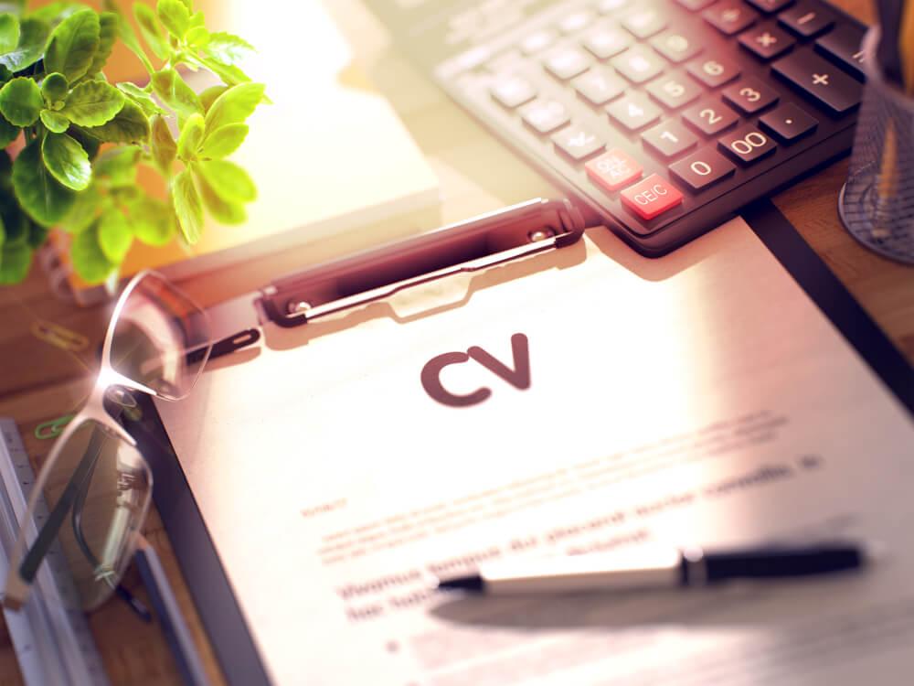 CVの結果についてレポートにまとめた様子を表した画像
