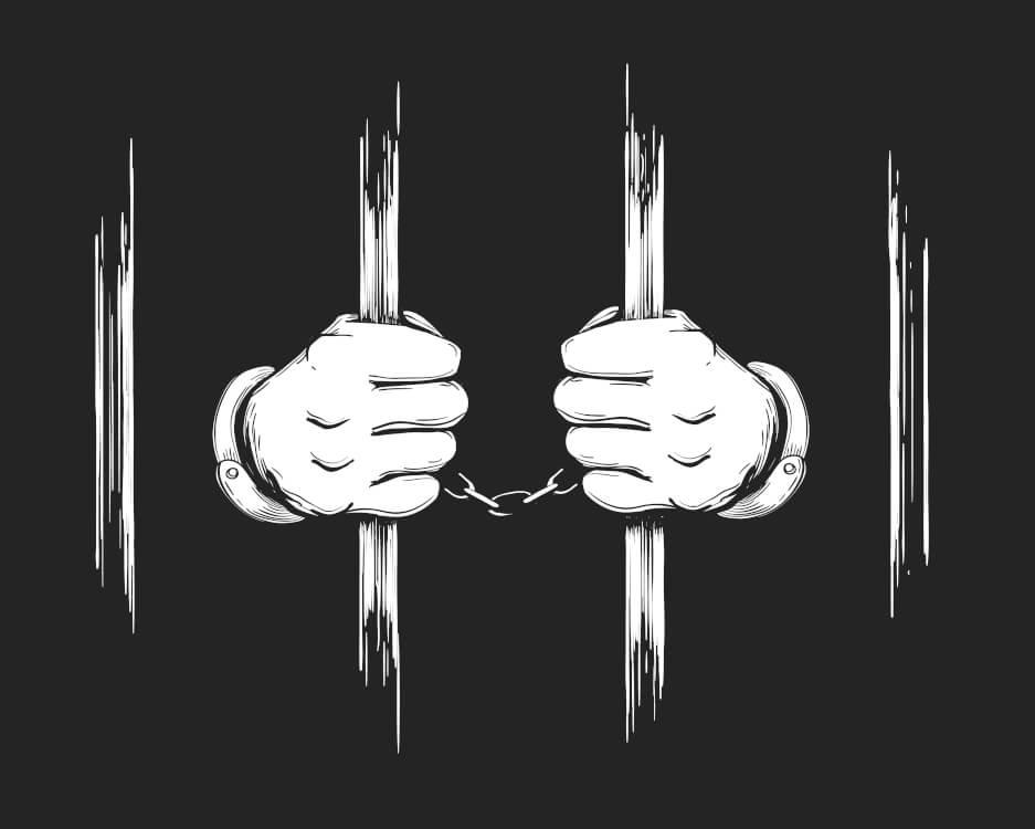 禁錮刑を受ける人