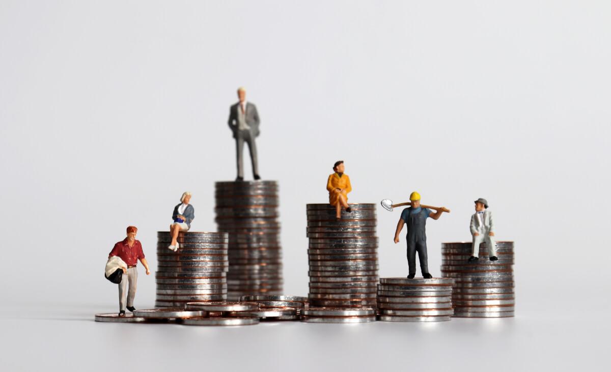 ジニ係数を示す経済格差