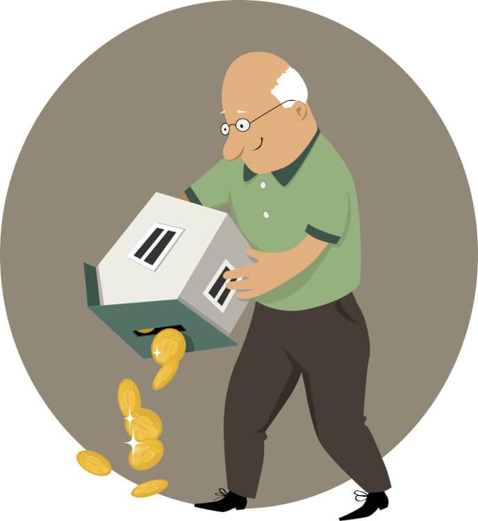 リバースモーゲージで資金を調達する男性