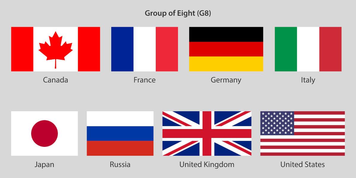 G8で会談を行う