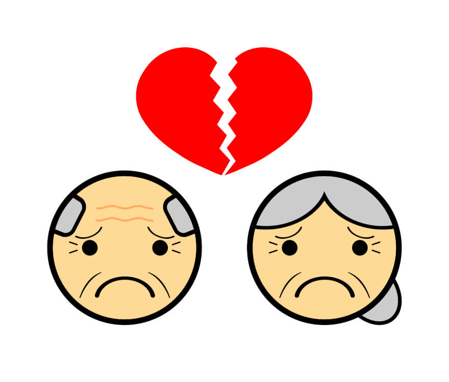 熟年離婚とは文字通り長年連れ添った夫婦が、熟年になってから離婚すること。