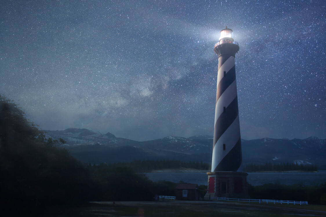 灯台下暗しを表している