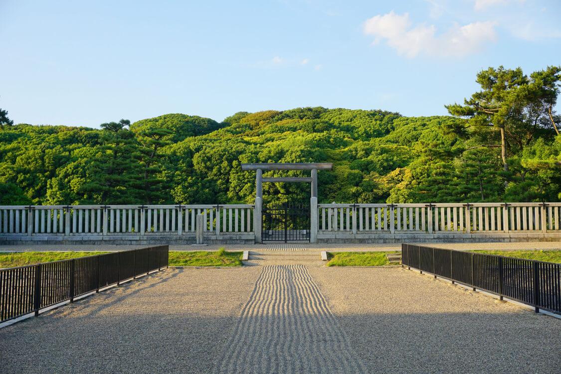 仁徳天皇陵の入り口