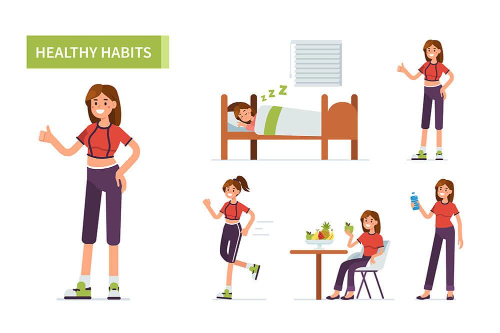 生活習慣の図