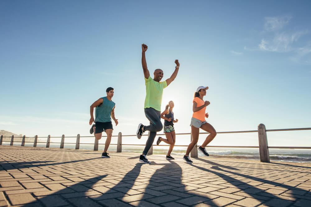 体育の日に運動をする