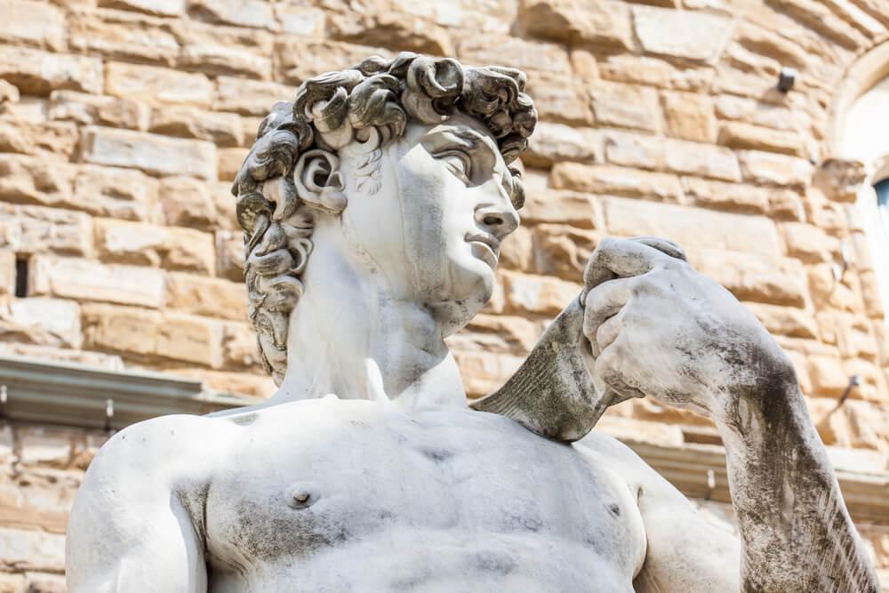 レプリカのダビデ像の写真