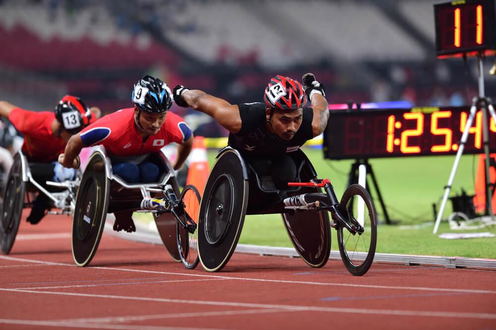 パラリンピックで活躍する選手