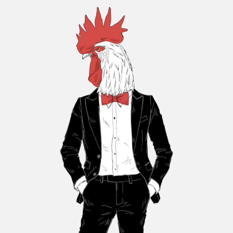 鶏の擬人化