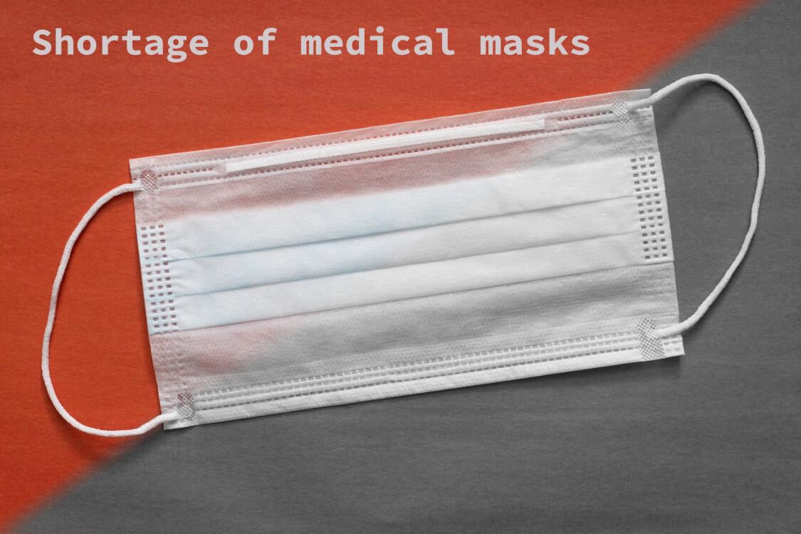 品薄になっているマスク