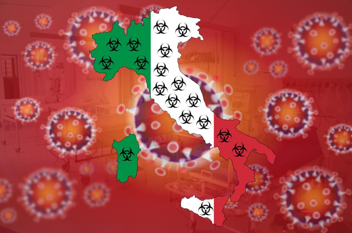 イタリアに移動制限が設けられている