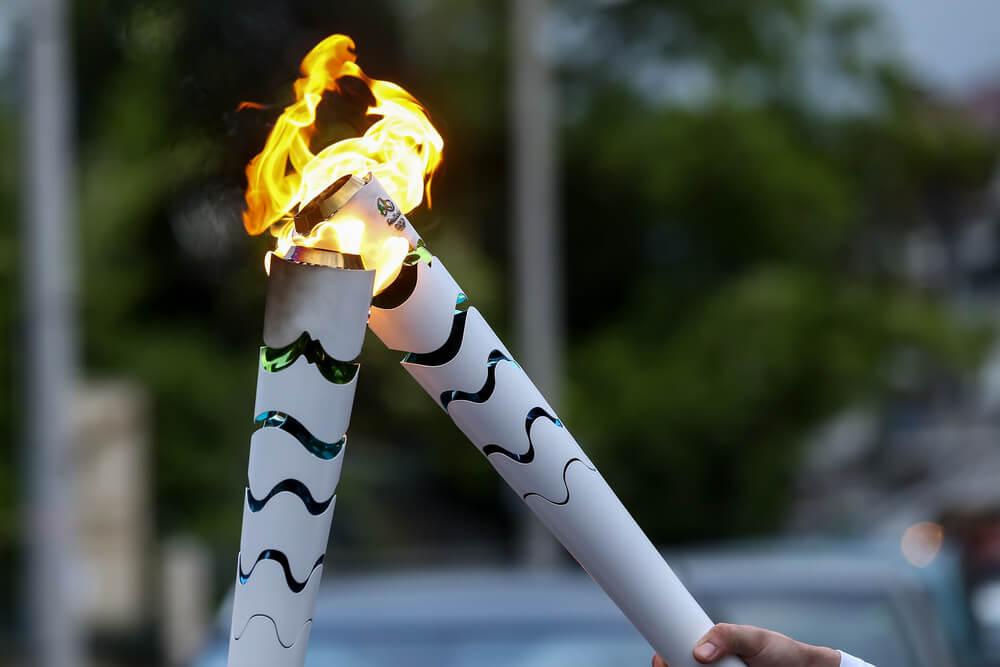 オリンピックを象徴する聖火リレー