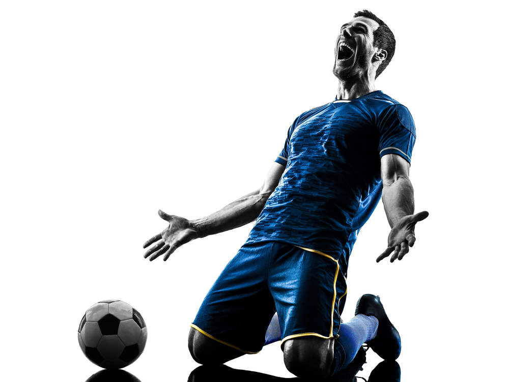 ジャイアントキリングを果たして喜ぶサッカー選手