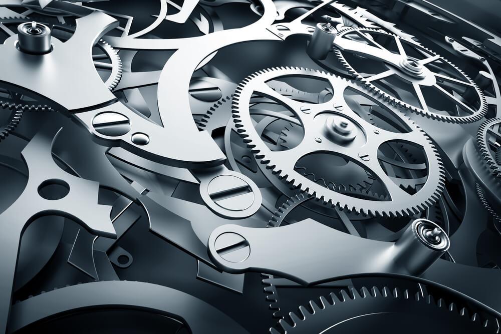 精密に作られた機械の内部構造