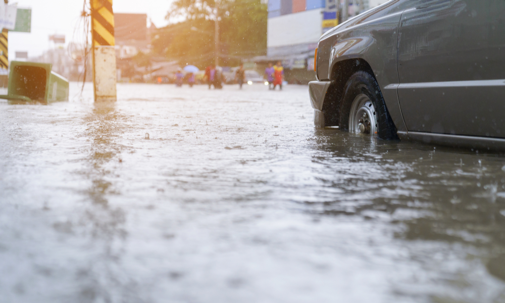 水害に見舞われた街