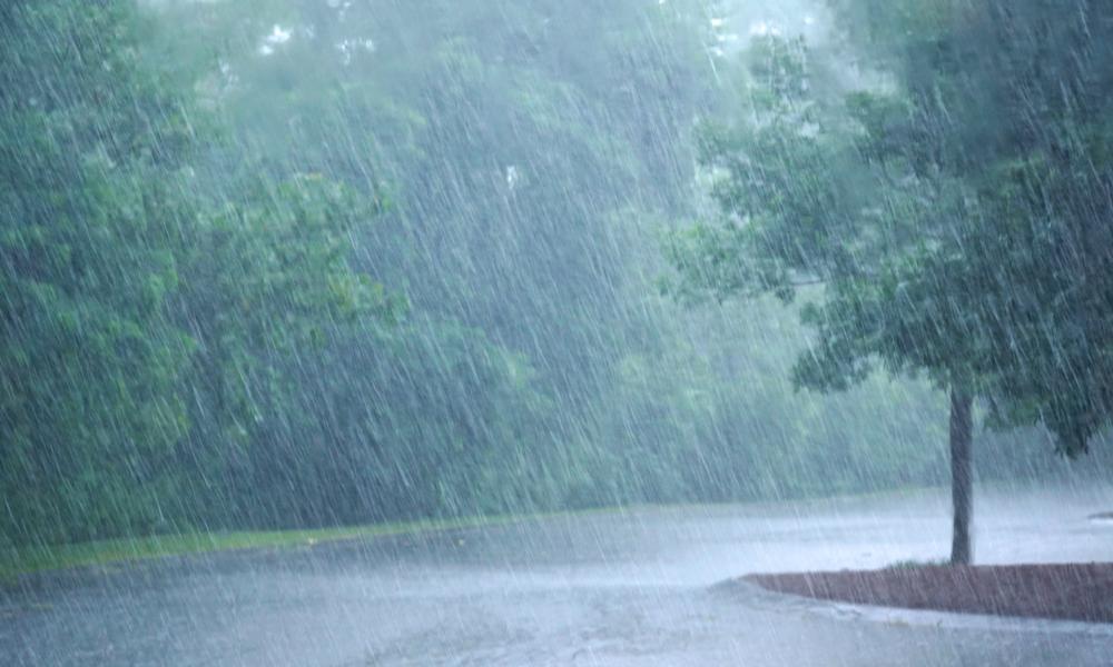 ゲリラ豪雨の画像