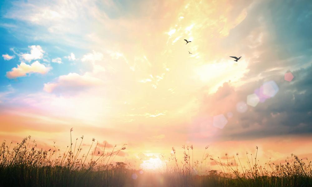 開闢を表す天と地