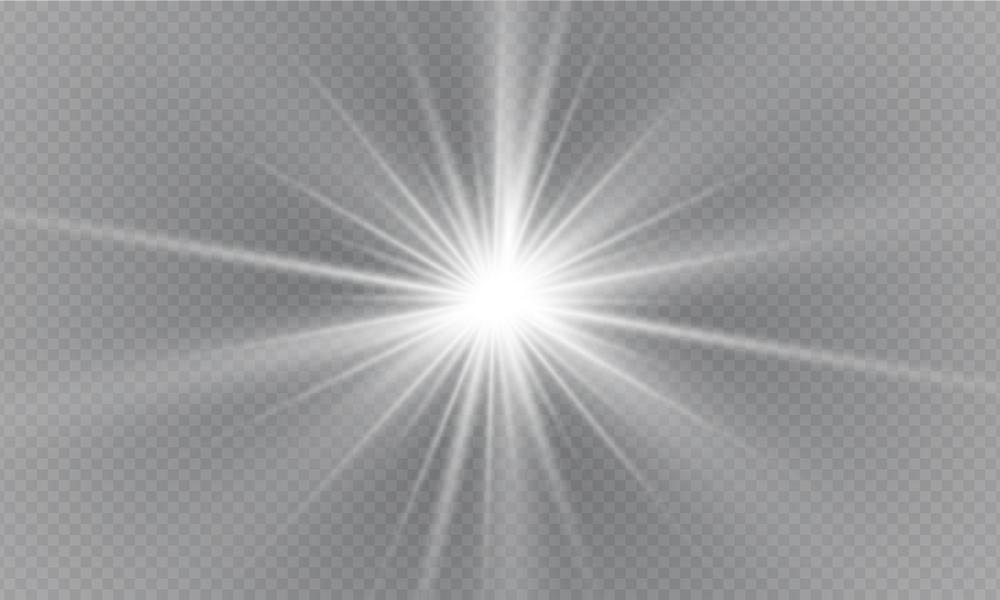 一閃を表している光