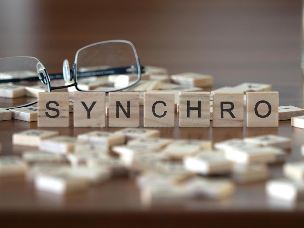 一糸乱れずはs英語でsynchroが適語だ