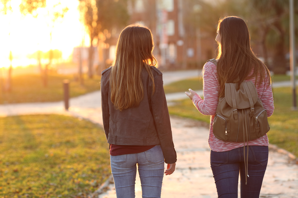金蘭の契りで繋がっている2人の女の子