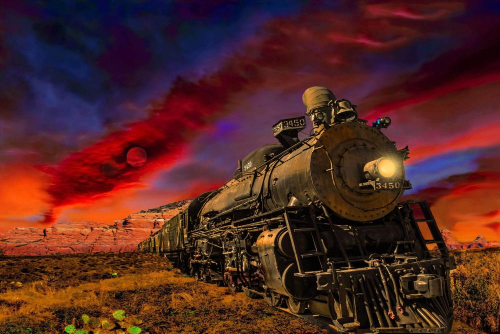 石炭で動くSL列車は退廃しつつある