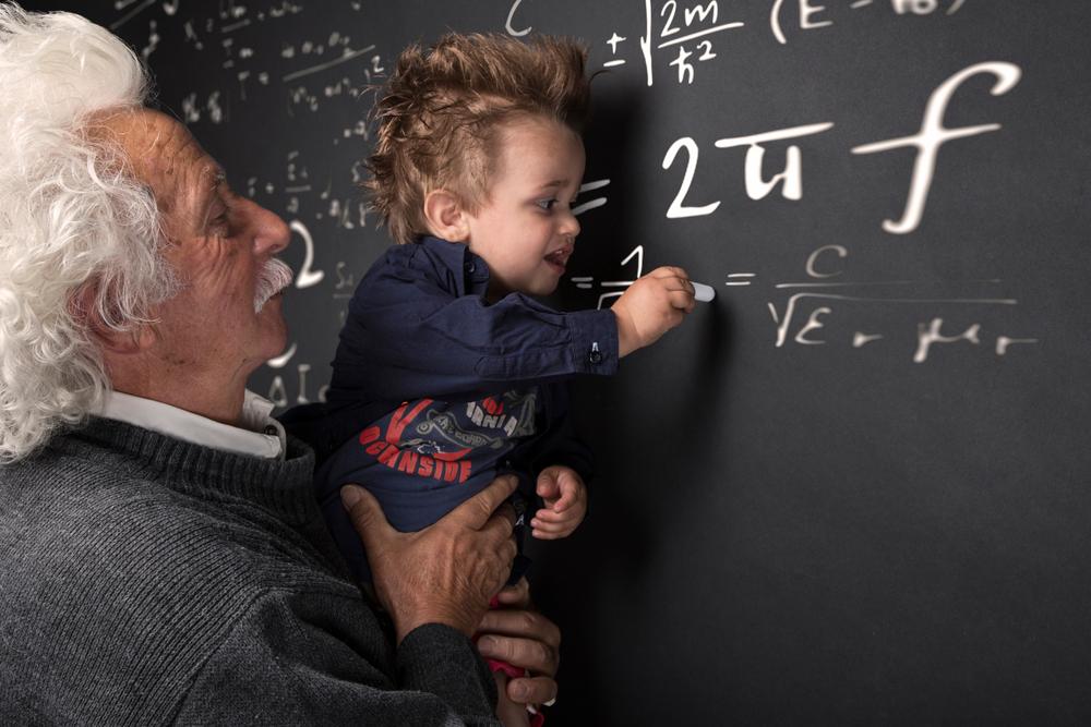 数学で非凡な才を発揮する少年