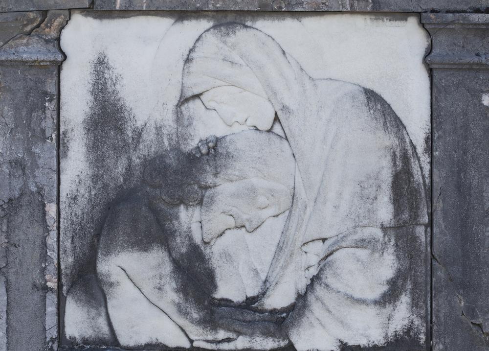 恐れ入谷の鬼子母神のイメージを表す像