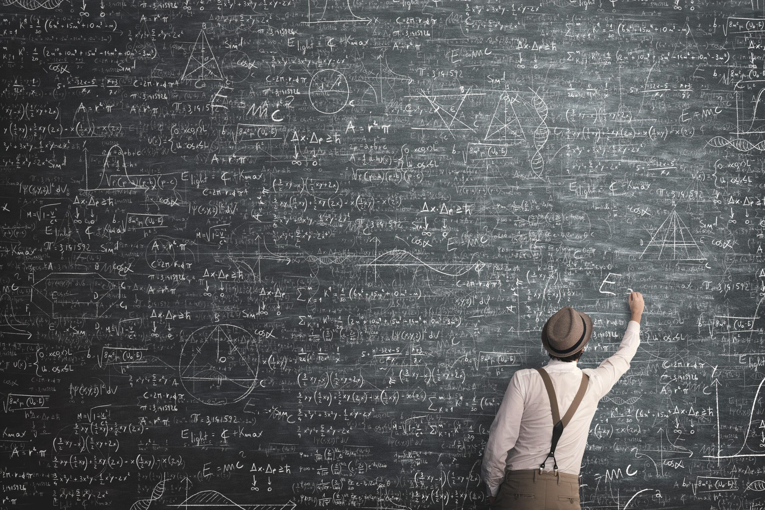 数学でセオリー通りに答えを導く様子。。